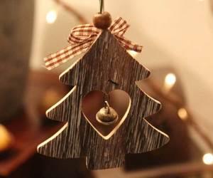 bow, christmas, and ornament image