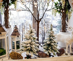 christmas, decoration, and deer image