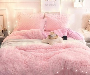 bed, comfy, and cozy image
