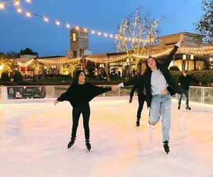 kendall jenner, christmas, and kourtney kardashian image