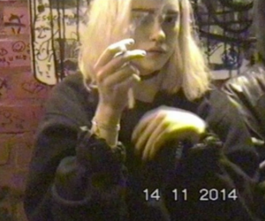 girl, grunge, and vhs image