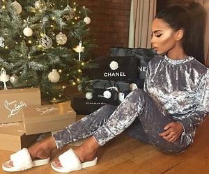 girl, christmas, and chanel image