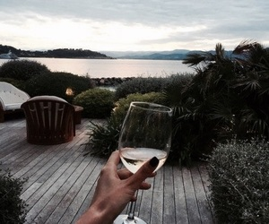 drink and ocean image
