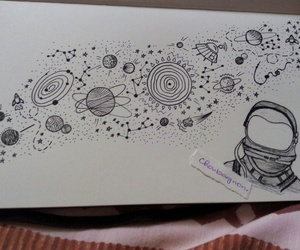 art, moleskine, and planets image