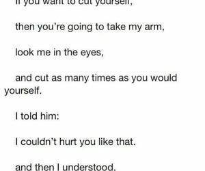 love, sad, and self harm image