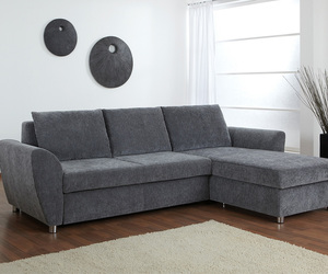 sleeper sofa, nordholtz, and fabric upholstered sofa image