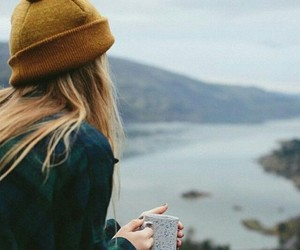 girl, coffee, and photography image
