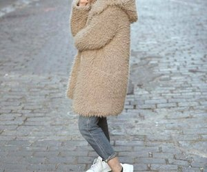 fur coat hijab image