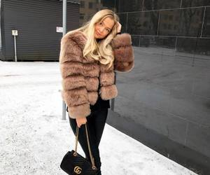 fashion, faux fur, and fur image