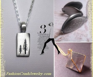 charm, locket, and long necklace image
