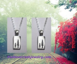 charm, necklace, and tree necklace image