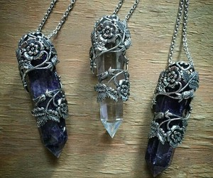 crystal and necklace image