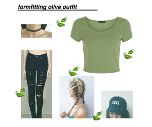 hat, crop top, and cute outfit image