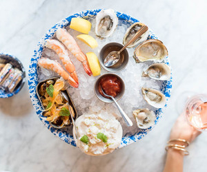 clams, dinner, and oyster image
