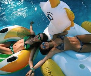 bikini, float, and friendship image