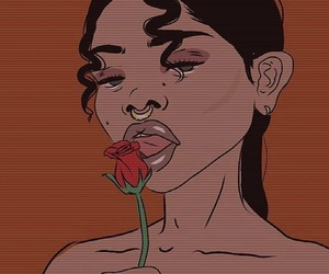 art, rose, and aesthetic image