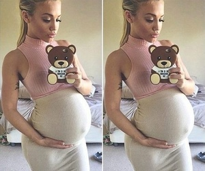 pregnant, baby, and selfie image