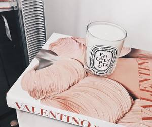 candle, pink, and Valentino image