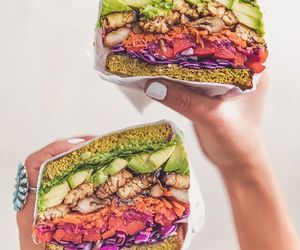 avocado, food, and vegan image