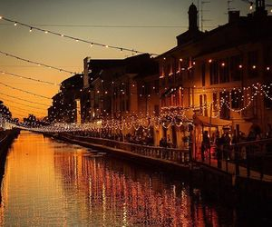 christmas, christmas lights, and italy image