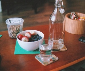 apples, table, and blueberries image