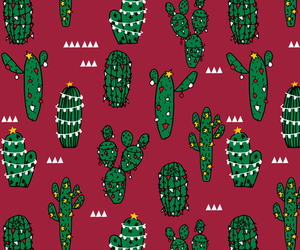 cactus, christmas, and cute image