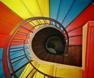 colorful, stairway, and primary image