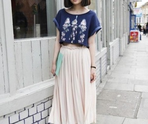 blue, fashion, and japanese image
