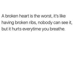 heartbroken, love quote, and heartbroken quote image