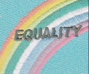 rainbow, equality, and aesthetic image