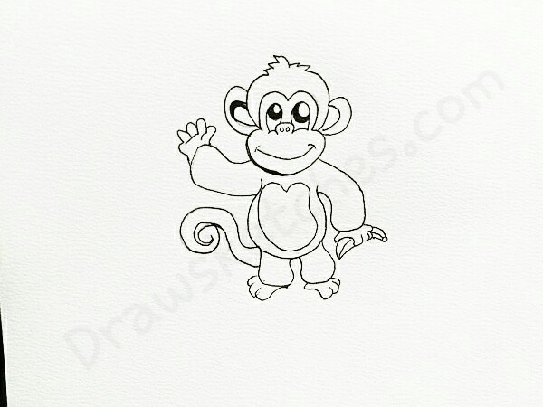 how to draw a monkey on we heart it