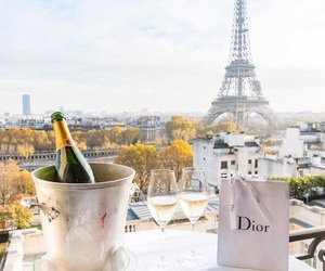 beauty, champagne, and dior image