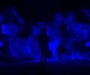 aesthetic, horror movie, and blue image