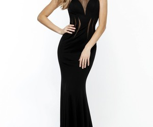 black long evening gown and long prom dresses 2018 image