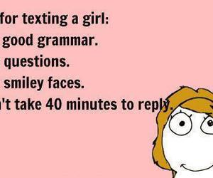 girl, rules, and text image