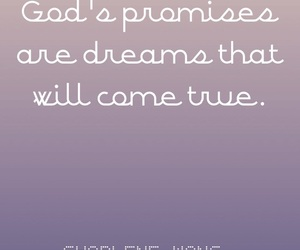 dreams, promises, and god image