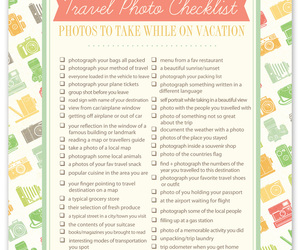 checklist, photography, and travel image