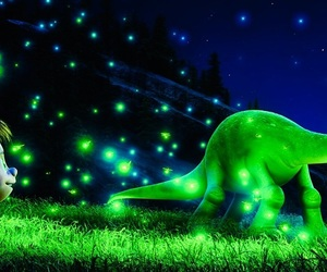 disney, the good dinosaur, and fireflies image