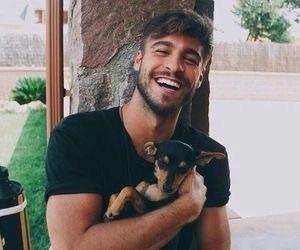 boy, smile, and dog image