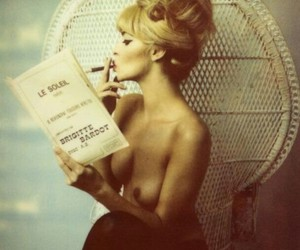 book, retro, and woman image