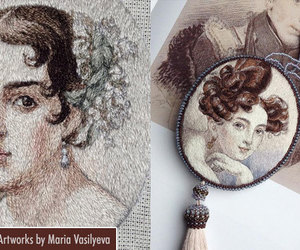 embroidery, embroidery art, and embroidery painting image