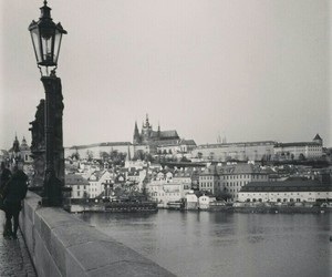 black and white, city, and czech republic image