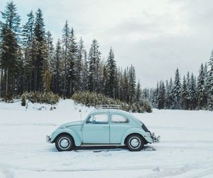 winter, car, and snow image