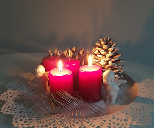 advent, candles, and christmas image