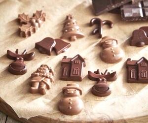christmas, chocolate, and holiday image