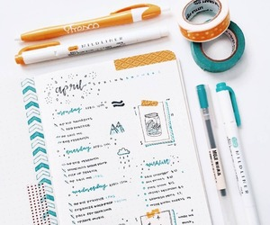 school, study, and bullet journal image