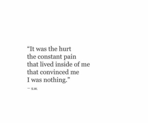 nothing, pain, and sad image
