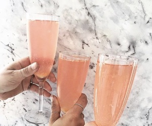 drink, champagne, and food image