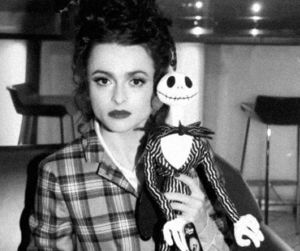 helena bonham carter, black and white, and tim burton image