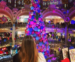 christmas, paris, and galeries lafayette image